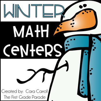 Feelin' Frosty Math Tubs {12 Math Tub Activities for Winter}