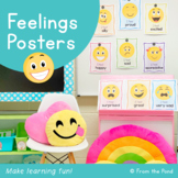 Feelings Posters/Charts/Cards -Help students talk about th