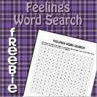 Feelings Word Search FREEBIE