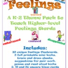 Feelings set with flashcards, trace, draw and write mini-b