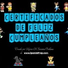 Feliz Cumpleanos Happy Birthday Certificates in Spanish