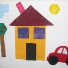 Felt Board Set! Shape House, Car, Truck, Bus & Tree