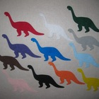 Felt Dinosaurs Colors & Counting 1 through 12 Play Set / F