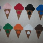 Felt Ice Cream Color Matchup Game All 11 Basic Colors Flannel Set