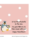 Female Penguin Treat Topper for Valentine from a Female Teacher