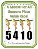 FREE Place Value Race Center Game - A Moose For All Season