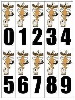 Fern Smith's A Moose For All Seasons Place Value Race Game!