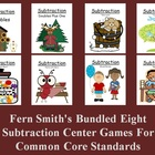 Fern Smith's Bundled Eight Subtraction Center Games For Co