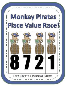 Place Value Race Center Game - Monkey Pirates Version