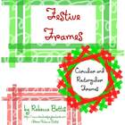 Festive Frames - Circle and Rectangle Frames in a Variety