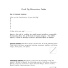 Fetal Pig Oral Quiz sheet
