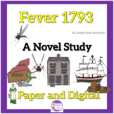 Fever 1793 A Novel Study with questions, vocab, and activities