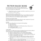 Fiction Book Report MAGIC (folding) BOOK