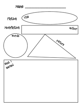 Fiction & Nonfiction Graphic Organizers