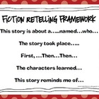 Fiction &amp; Nonfiction Oral Retelling Frameworks