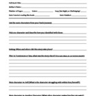 Fiction Reading Conference Form - Student Fills In