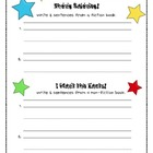 Fiction and Non-Fiction Graphic Organizer Freebie