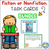 Fiction or Nonfiction Task Cards Bundle