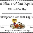 Field Day Certificate
