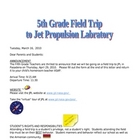 Field Trip Letter for JPL