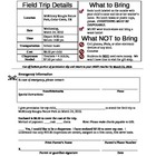 Field Trip Permission Slip - Must Have!