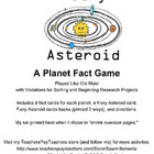 Fiery Asteroid - Planets Fact Game