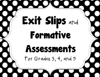 Fifteen Exit Slips and Formative Assessments