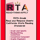 Fifth Grade California Standards Aligned Read and Respond Sheets