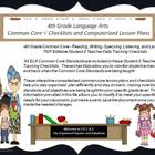 Fifth Grade Common Core Language Arts Checklists and Drop