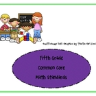 Fifth Grade Common Core Math Standards