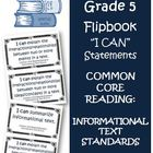 Fifth Grade Math Common Core Reading Informational Text  I