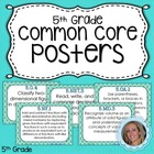 Fifth Grade Math Common Core Standards Posters