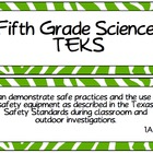 Fifth Grade Science TEKS ~ Green Zebra
