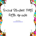 Fifth Grade Social Studies TEKS