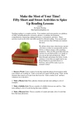 Fifty Short and Sweet Activities to Spice Up Reading Lessons