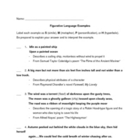 Figurative Language: Examples for Students to Identify