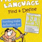 Figurative Language: Find & Define Vocabulary Word Search
