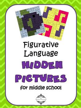 Figurative Language Hidden Pictures for Middle School