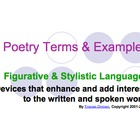 Figurative Language &amp; Poetic Devices Powerpoint Presentation