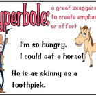 Figurative Language Poster - hyperbole *FREE*