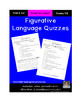 Figurative Language Quiz #1