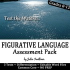 Figurative Language Testing Bundle - Three Levels/Types of Tests