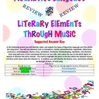Review Literary Elements Through Music Answer Key