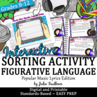 Figurative Language w/ Song Lyrics Human Games Test Prep/Review