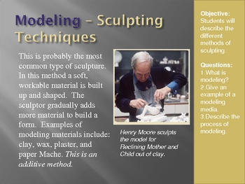 Figurative Sculpture Lesson and Project PowerPoint