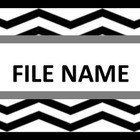 File Cabinet Labels - Black Chevron