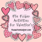File Folder Activities for Valentine's