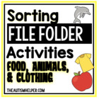 File Folder Activities to Sort by Habitat, Temperature, an