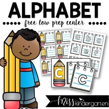 File Folder Game- Alphabet Matching