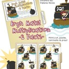 File Folder Game: Argh Mate! Multiplication 2 Facts